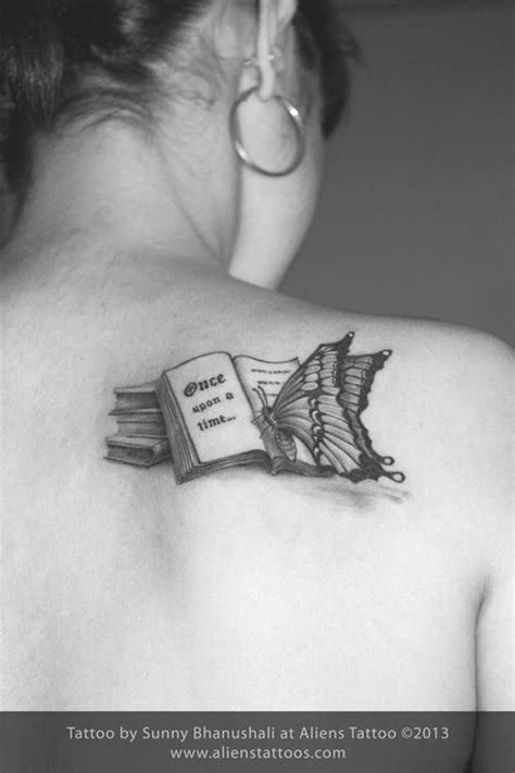 Similar but with a bird (probably a sparrow) instead of the butterfly | Bookish tattoos, Book