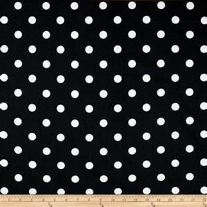 Premier Prints Polka Dot Black/White - Discount Designer