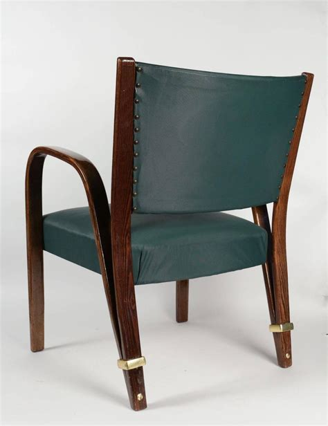 elegant pair of quot bow wood quot armchairs by steiner 1950s at