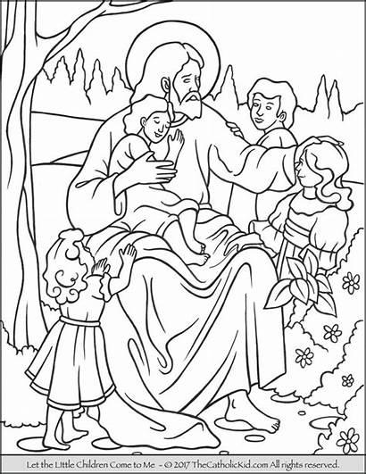 Jesus Coloring Children Pages Come Let Bible