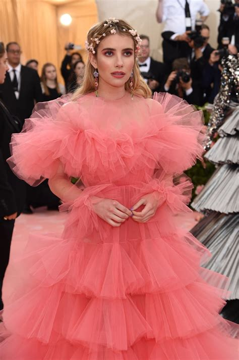 Emma Roberts Taking Influence From Chanel at the Met Gala ...