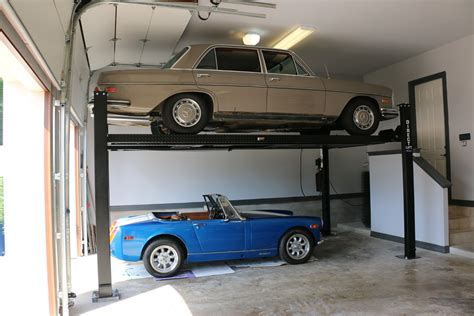 high lifted wood  overhead garage doors  car lift