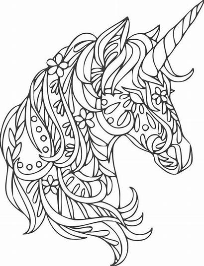 Unicorn Coloring Cricut Mandala Svg Patterns Colouring