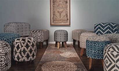 Woven Ottoman Amory Versatile Accent Luxe Living
