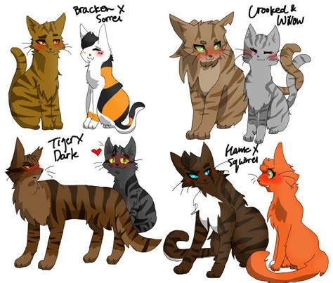 anime couple and cat warrior cats 4 best couples warrior cats gt