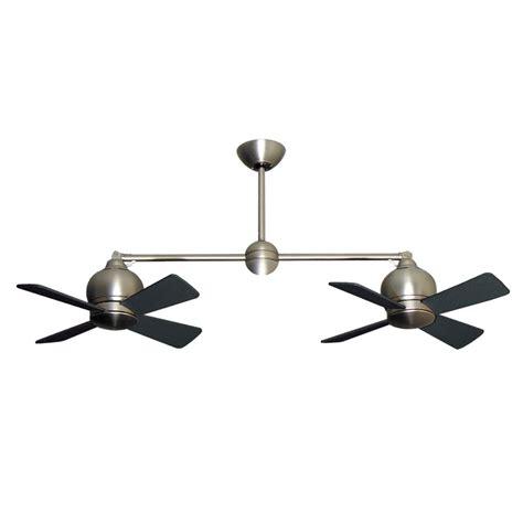 ceiling fan with double metropolitan dual motor ceiling fan modern styling with
