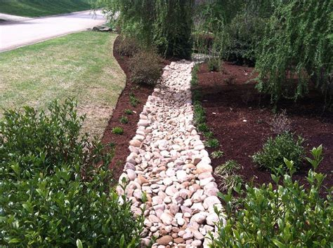 Drainage Ideas For Backyard by Drainage Ditch Landscaping Decorative Drainage Before