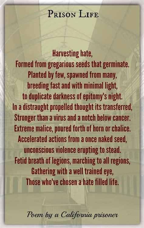 prison life california prisoner words  understanding