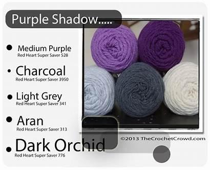 Yarn Combinations Heart Crochet Colors Schemes Blanket