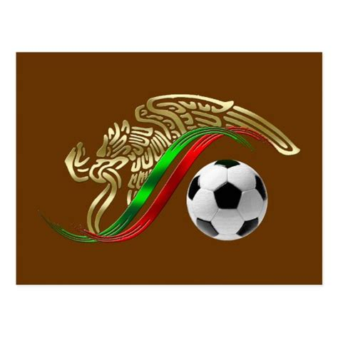 Mexico flag emblem Soccer futbol Logo Postcard | Zazzle.com
