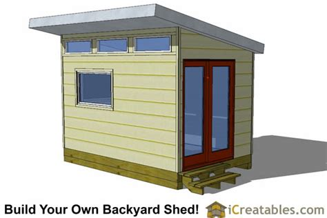 Garden Shed Plans 8x12 by 8x12 Modern Shed Plans 8x12 Office Shed Plans Studio