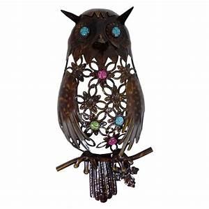 mix match sale dark metal garden home wall art owl gecko With owl wall art