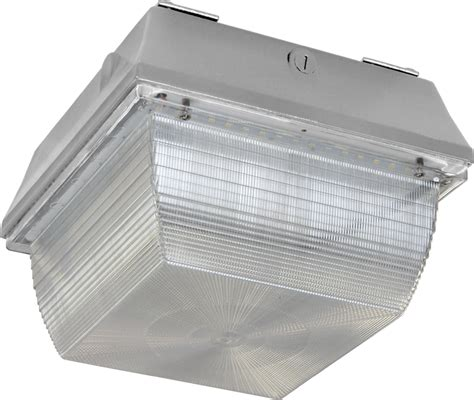 Led Canopy Light Fixtures by Led Canopy Light Prismatic Lens Indoor Outdoor 49 Watts