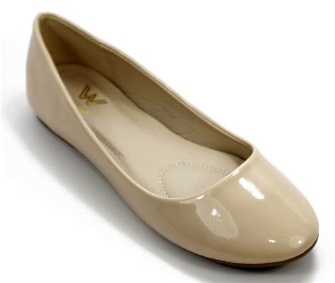 women casual patent leather ballet flat shoes size