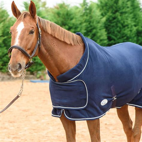 horse rug fleece ribbon breathable supreme boh navy outdoor equestrian sweat wicking moisture cooler anti travel stable blanket blankets tackville
