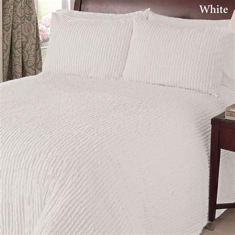 Channel Cotton Chenille Bedspread Bedding