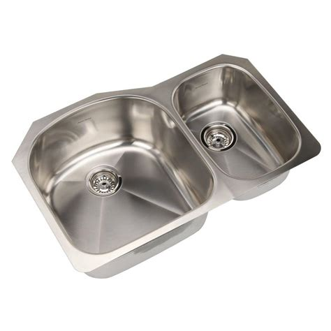 kohler strive undermount stainless steel 32 in basin kitchen sink kit k 5284 na the