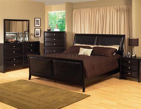 Espresso King Bedroom Set by Espresso Finish Transitional Bedroom Set W Bicast Inserts