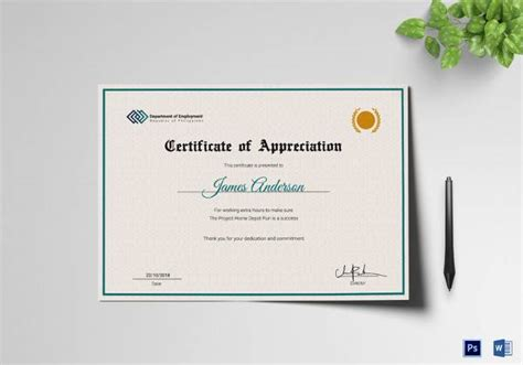 certificate  service templates   ms word
