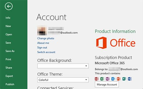 Office 365 Account by Microsoft Excel Where Can I Find My Office Account Email