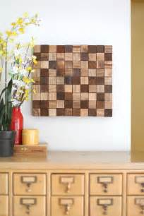 makeup courses wooden mosaic wall diy a beautiful mess