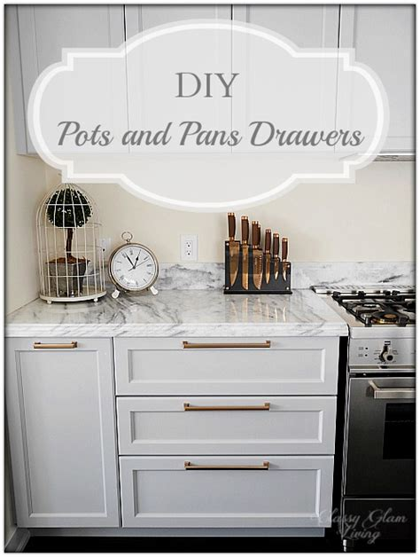 kitchen update diy pots  pans drawers classy glam