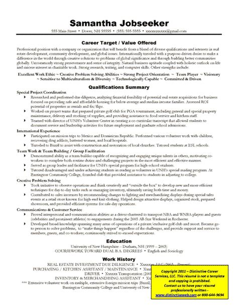 definition of targeted resume