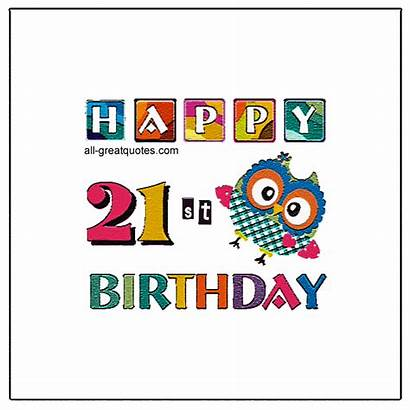 21st Birthday Happy Animated Cards Quotes Age