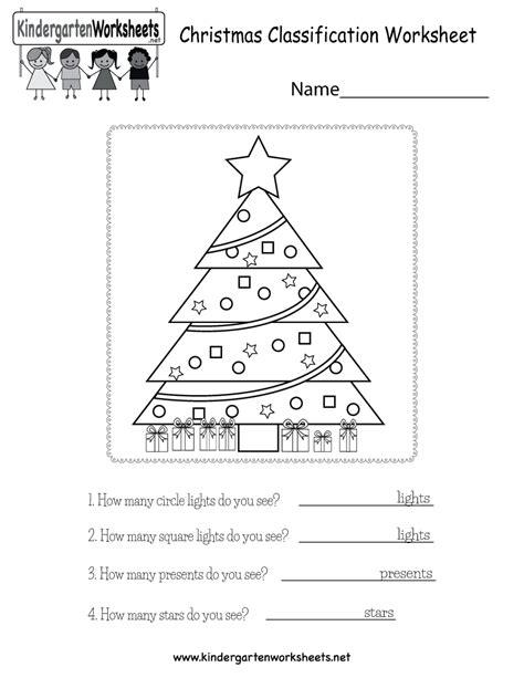 christmas kindergarten math worksheets  calendar