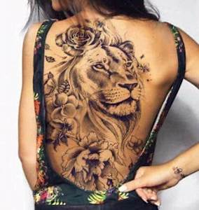 Tattoo Ideen Rücken : tattoos tattoo ideas tattoo r cken l wen tattoo frau tattoo ideen ~ Watch28wear.com Haus und Dekorationen