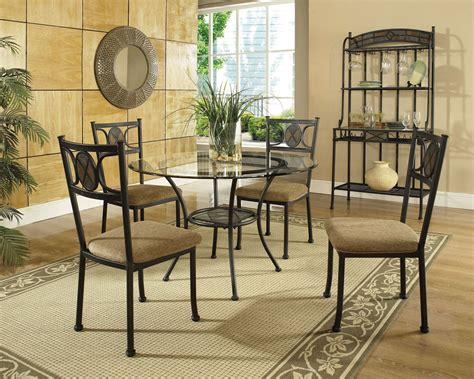 carolyn glass top  dining room set  steve silver