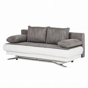 Couch Weiß Grau : sam schlafsofa grau wei sofa helga 203 cm g nstig ~ Watch28wear.com Haus und Dekorationen