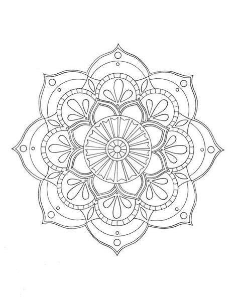 pre-framed mandala coloring page by syvanahbennett on Etsy