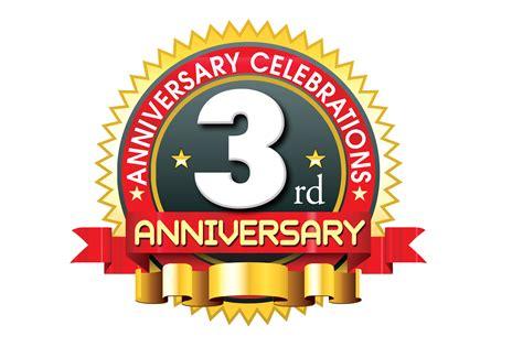 3rd year anniversary 3rd anniversary logo template with red ribbon naveengfx