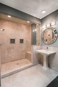 Credence Lavabo Salle De Bain : le carrelage beige pour salle de bain 54 photos de salles de bain beiges ~ Dode.kayakingforconservation.com Idées de Décoration