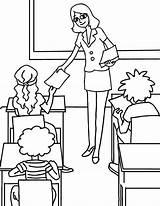 Teacher Coloring sketch template
