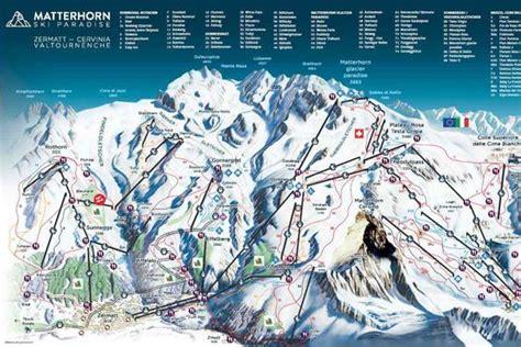 zermatt ski resort panoramic piste map zermatt