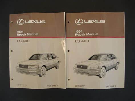 old car repair manuals 1994 lexus ls free book repair manuals buy 1994 lexus ls 400 service repair manual oem 2 volume set 94 ls400 motorcycle in