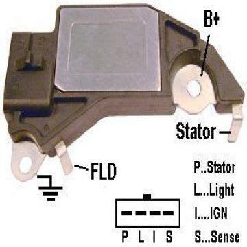 regulador de voltaje alternador 12v delco gw d411 para los veh 237 culos gm regulador