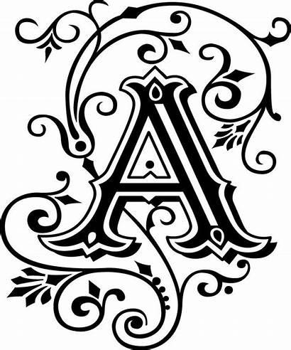 Fancy Letter Monogram Letters Alphabet Decal Colors