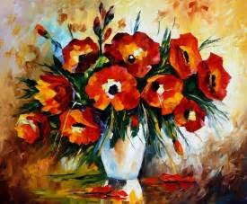 flowers store flowers palette knife painting on canvas by