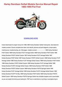 Harley Davidson Softail Models Service Manual By