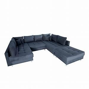 Couch Kissen Xxl : moderne xxl wohnlandschaft kent 305cm anthrazit federkern inkl hocker und kissen sofa ~ Indierocktalk.com Haus und Dekorationen