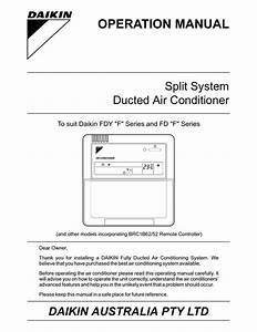 5 Images Daikin Ducted Air Conditioner Instruction Manual