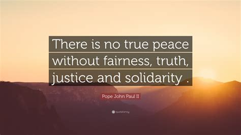 pope john paul ii quote    true peace