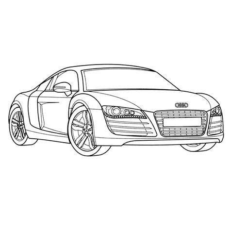 Auto Kleurplaat Zijkant by Kleurplaat Audi R8 Kleurplaatje Nl
