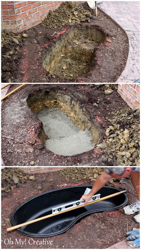 Build Backyard Pond by Diy Backyard Pond Landscape Water Feature Oh My Creative