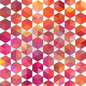 Pink Orange Geometric Design King Duvet by GroovyFinds
