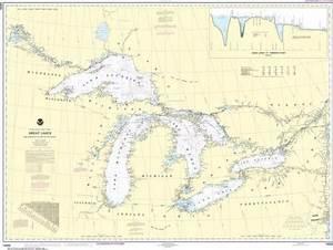 Nautical Marine Chart Of The Great Lakes Noaa 14500