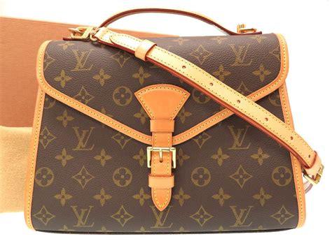 auth louis vuitton   monogram bel air hand bag brown  ebay